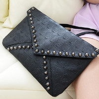 Korean Rivet Casual One Shoulder Bags [6582660359]