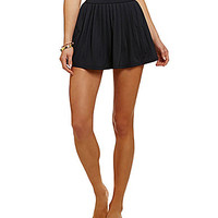 kate spade new york Georgica Beach Solid Pleated Cover-Up Skirt - Blac