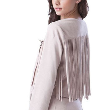 Blush Fringe Jacket