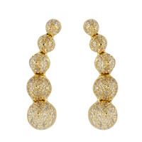 Noor Fares 5 Cone Mock Ear Cuff - Diamond Earrings - ShopBAZAAR