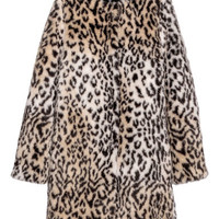 Faux fur coat - Beige/Leopard print - Ladies | H&M GB