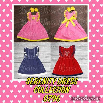 Serenity Dress Collection, (Lemonade, Patriotic, Denim)*Preorder 0796*Closes 2.23.18@8p.m