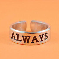 [♡073] ALWAYS - Hand Stamped Aluminum Ring, Harry Potter Inspired Ring
