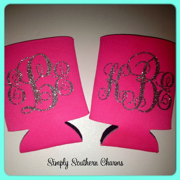 Personalized Koozie, Wedding Gift, Monogrammed Bride and Bridesmaid GIfts