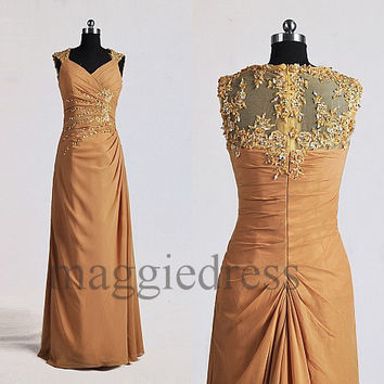 Custom Applique Beaded Long Prom Dresses Evening Gowns Formal Party Dress Bridesmaid Dresses 2014 Formal Wear Cocktail Dresess Formal Wear