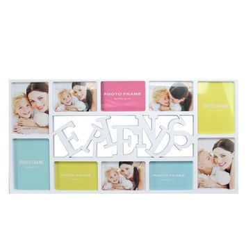 """28.75"""" White """"Friends"""" Photo Picture Frame Hanging Collage"""
