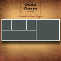 Facebook Timeline Cover Photo Photshop Template, Photographers, Five Panel Storyboard