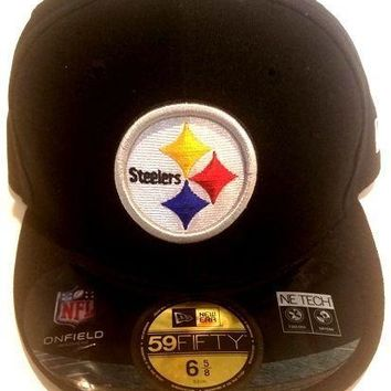 Pittsburgh Steelers New Era 59Fifty NFL On Field Headwear Mens Hat Fitted 7 3/4