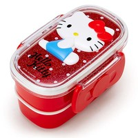 Hello Kitty Relief W 2-stage Lunch Case Bento Box Sanrio Japan - VeryGoods.JP