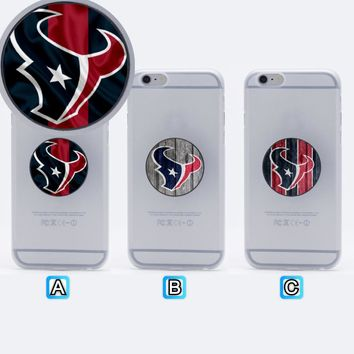 Houston Texans Football Collapsible Phone Grip Holder Mount Stand Universal