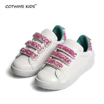 CCTWINS KIKS autumn children pu leather sneakers kids brand fashion sneakers for baby girls stud sneaker toddler glitter F824