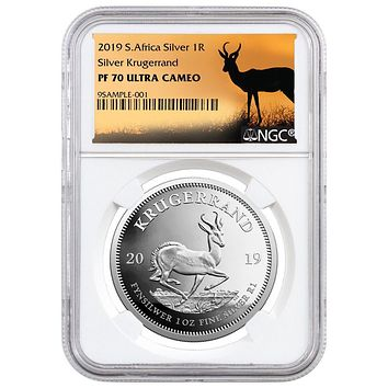 2019 South Africa 1 oz Silver Krugerrand Proof NGC PF-70