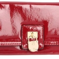Anne Klein Rich And Famous On A String Wallet,Scarlet,One Size