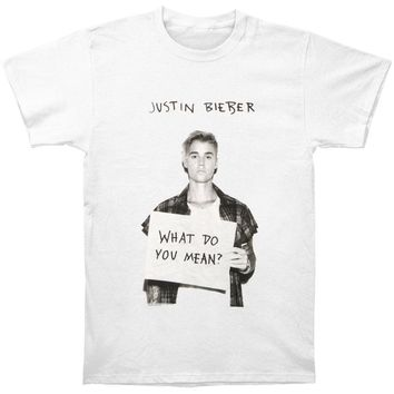 Justin Bieber Men's  What Do You Mean T-shirt White