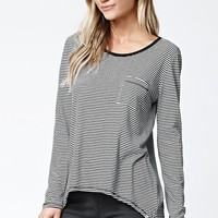 Volcom Lived In Stripe Long Sleeve Top - Womens Tee