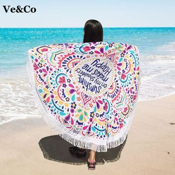 VE&CO Summer Pareos Beach Cover Ups Floral Print Swimsuit Cover Ups 2017 Bathing Suit Cover Ups Cotton Women Cape Beach Swimwear