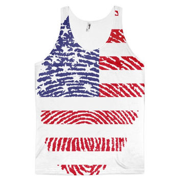 USA Fingerprint Flag Tank - Made In The USA
