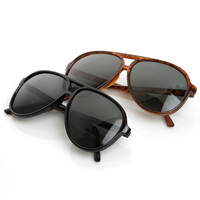 Retro 1980's Fashion Plastic Aviator Polarized Lens 6119 [2 Pack]