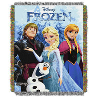 Disney Frozen- Frozen Fun Triple Woven Jacquard Throw (48x60)