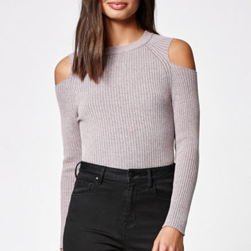 Kendall & Kylie Mock Neck Cold Shoulder Sweater at PacSun.com