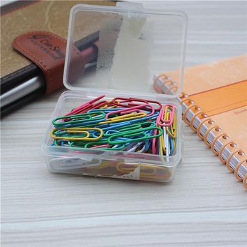 100PCS/BOX Deli Mini Metal Binder Paper Clipboard Clips Paperclips	school Office Accessories Organizer