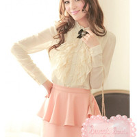 Sweet Classical Pearl Blouse