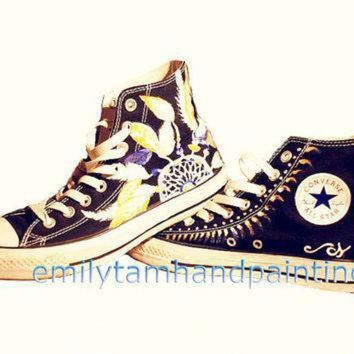 CREYON dreamcatcher converse sneakers dream catcher inspired customizing converse shoes