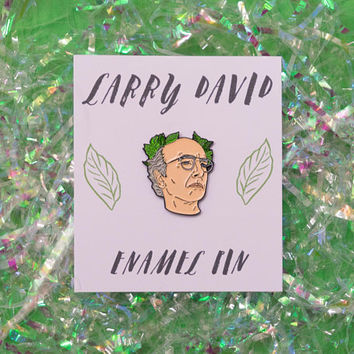 Larry David Enamel Pin, curb your enthusiasm, badge, pin game, lapel pin, funny gift, seinfeld, curb pin, larry david pin