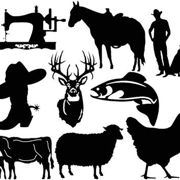 custom Farms animals and cowboy collection