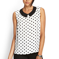 Dotted Peter Pan Top