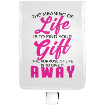 The Meaning Of Life Is To Find Your Gift, The Purpose Of Life Is To Give It Away Medium Shoulder Bag