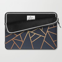 Copper and Midnight Navy Laptop Sleeve by Elisabeth Fredriksson | Society6