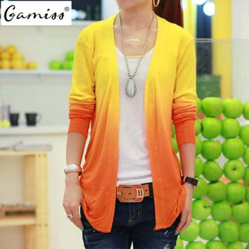 Gamiss 5 Colors Spring 2016 New Fashion Womens Cardigan Coat