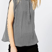 Monki Sleeveless Stripe Blouse
