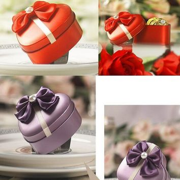 Classic  wedding  chocolate  candy  heart  shaped  metal