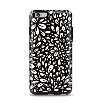 The Black Floral Sprout Apple iPhone 6 Plus Otterbox Symmetry Case Skin Set