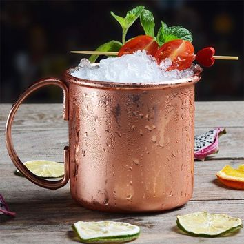 Large Bronze Plated Beer Cocktail Milk Mugs Stainless Steel Copper Gold Moscow Mule Coffee Cup Bar Tools Drinkware