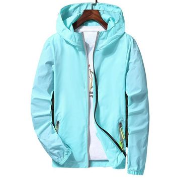 Trendy add new plus size Lovers Summer Large 7XL fashion Sun UV Protection men Hooded Jacket Thin Breathable Beach Cardigan women coats AT_94_13