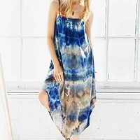 Urban Renewal Remade Hand Dyed Crinkled Maxi Dress - Urban Outfitters