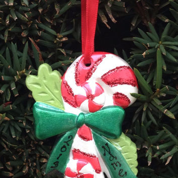 Personalized Candy Cane Ornament