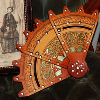 Steampunk Folding Fan