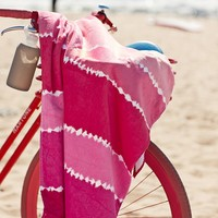 Tie Dye Stripe Beach Towel, Pink