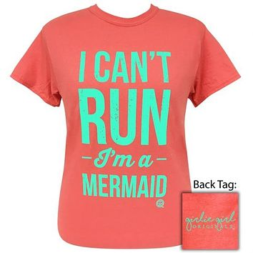 Girlie Girl Originals Preppy I Can't Run Coral Silk T-Shirt