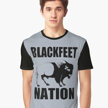 'BLACKFOOT BUFFALO' Graphic T-Shirt by IMPACTEES