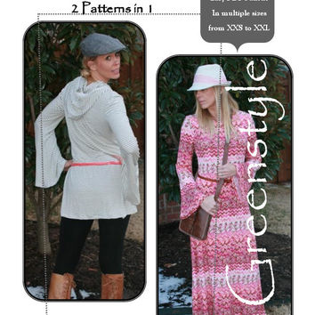 Studio Maxi Dress and Tunic with Multiple Options PDF Sewing Pattern in  XS to XL