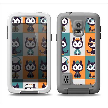 The Retro Cats with Accessories Samsung Galaxy S5 LifeProof Fre Case Skin Set