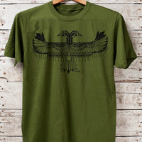 Reverie - mens olive t-shirt - by Bark Decor