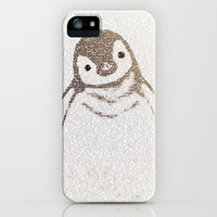 The Little Intellectual Penguin iPhone & iPod Case by Paula Belle Flores