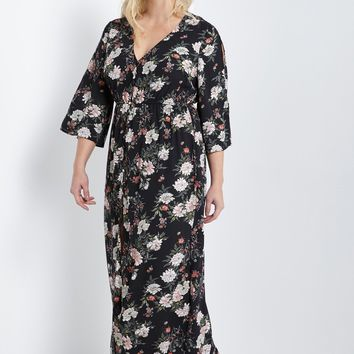 be88484338d6a Shop Floral Button Down Maxi Dress on Wanelo