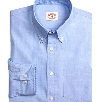 Solid Light Blue End-on-End Sport Shirt - Brooks Brothers